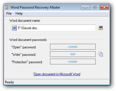 recover word password